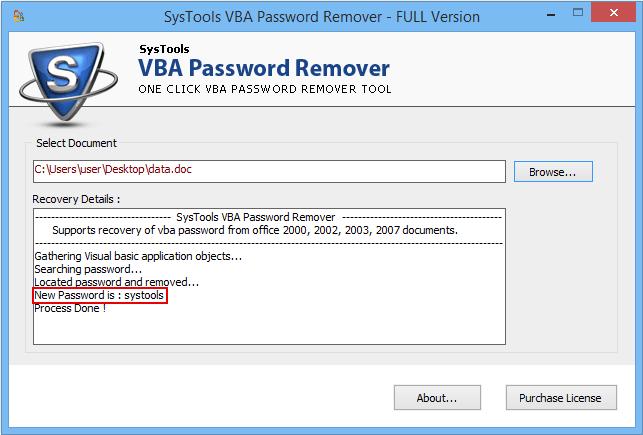 VBA Password Remover Software To Reset/Break VBA Project